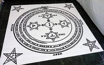 Produtos - Tapete círculo para evocação Goétia