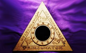 Produtos - Triângulo de evocação Goétia com espelho negro